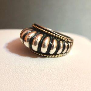 Vintage Lagos Caviar 925/18kYG Dome Ring